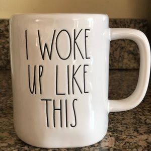 "NWT RAE DUNN ""I Woke Up Like This"" mug"